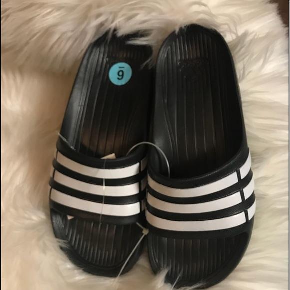 91bd13d81bc adidas Other - ADIDAS Duramo Slide Y Size 6 Youth Black Flip Flop